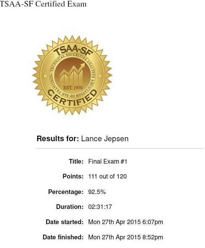 TSAA-SF Certification