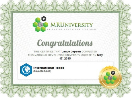 international trade certificate