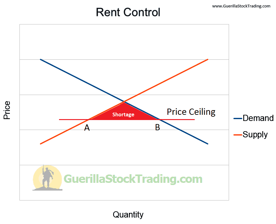 The Gap Between Market Demand And Supply Is A Shortage Shown As Red Shaded Area This Of Rental Units Means That Competition For