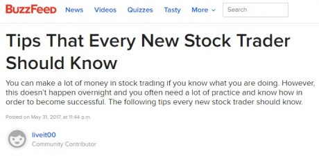 GuerillaStockTrading.com on Buzzfeed