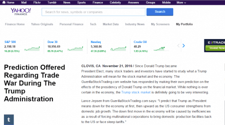 GuerillaStockTrading.com on Yahoo Finance