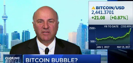O'Leary says I would short bitcoin…