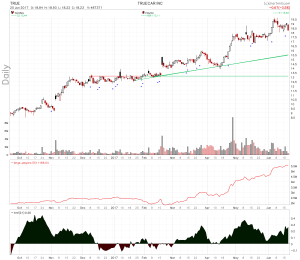 TrueCar Inc Santa Monica CA Headed Up the Chart