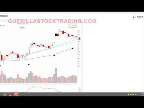 Stock chart uptrending