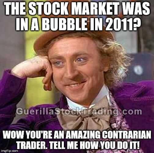 Stock market bubble meme