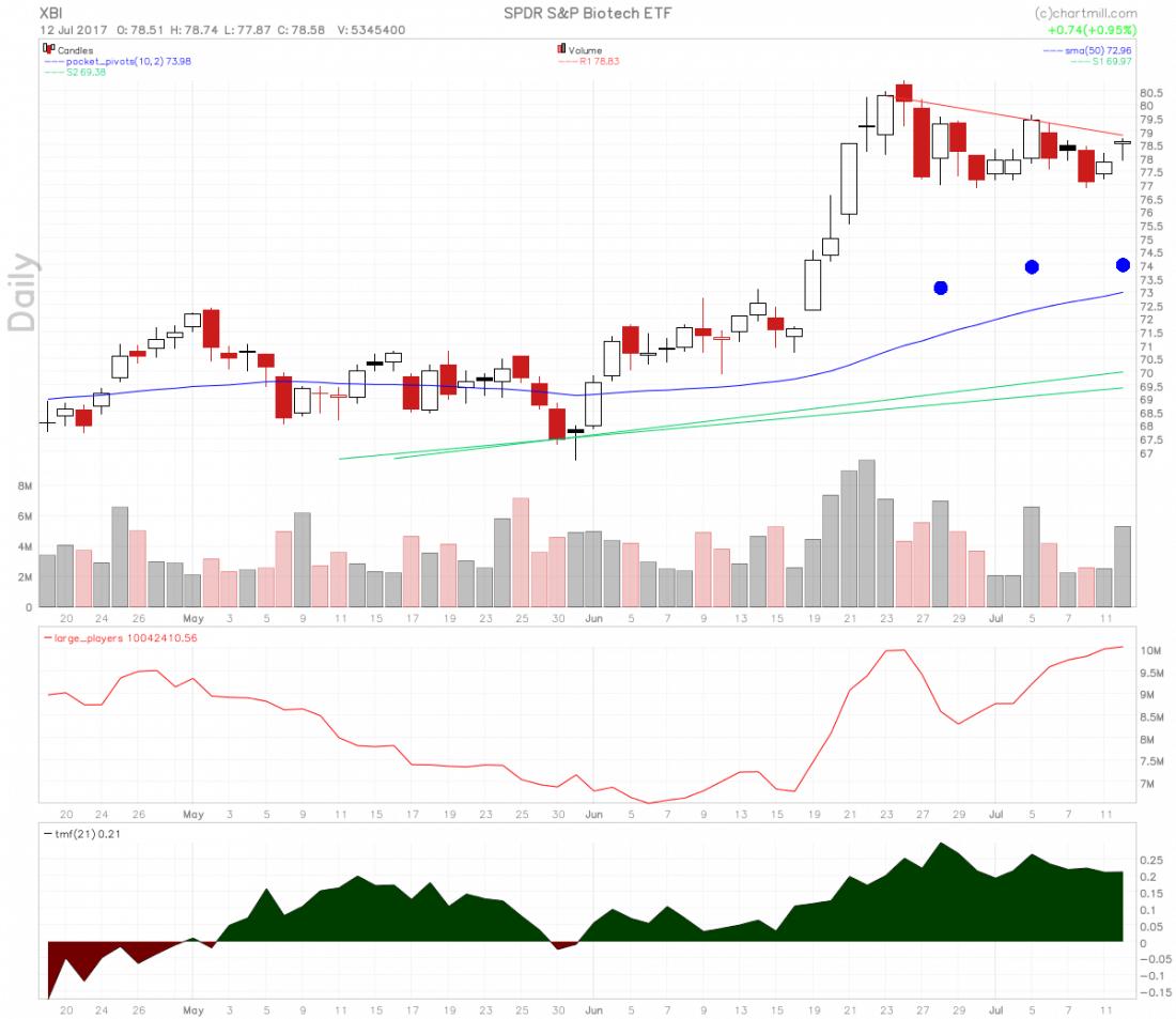 Top penny stocks, nah, instead lower risk XBI