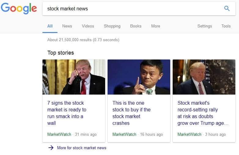 business google - Establishment Media Trying To Push The Stock Market Down