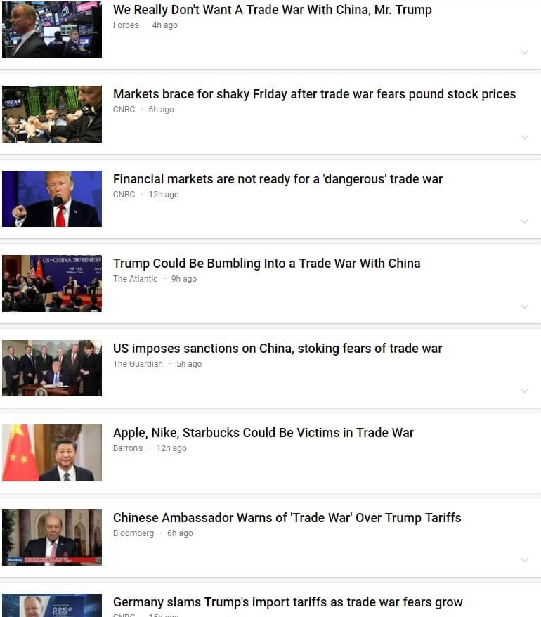 List of news articles that are negative about President Trump