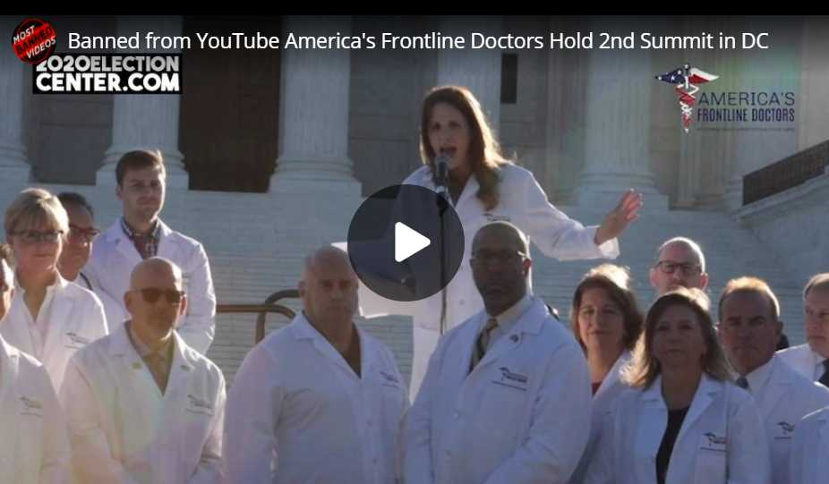 Shocking America's Frontline Doctors and COVID-19 Banned Video